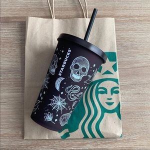 Starbucks Halloween Tattoo Grande Size Tumbler